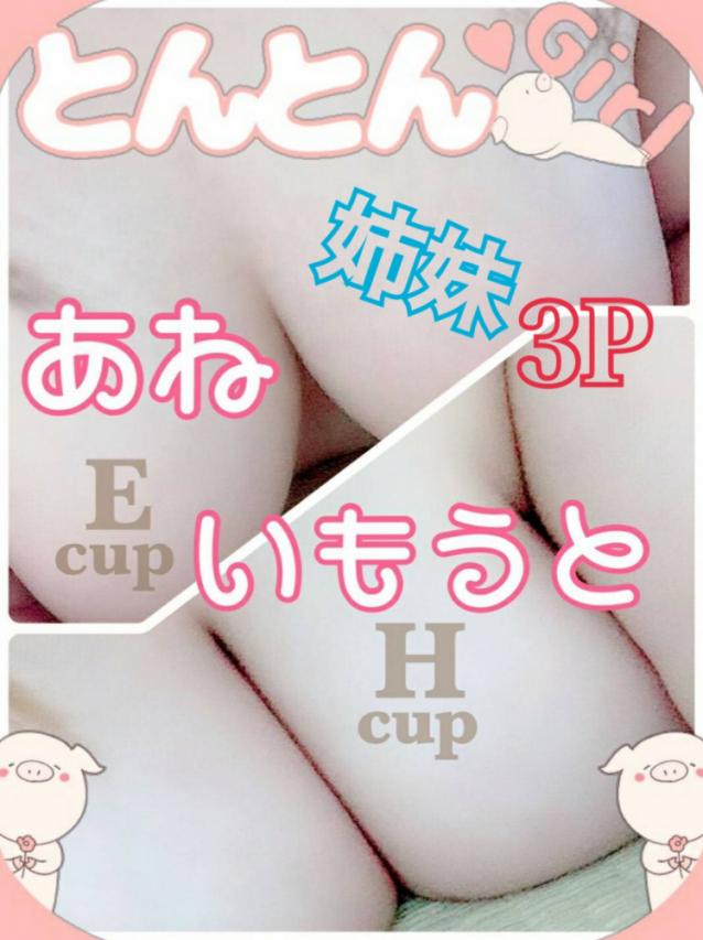 姉妹3Pコース(激安~ポッチャリ巨乳専門店~とんとん)