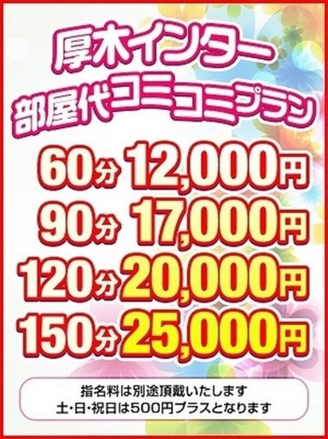 厚木インター部屋代コミプラン(厚木最安値宣言!激安3900円ヘルス!ぽちゃカワ女子専門店)