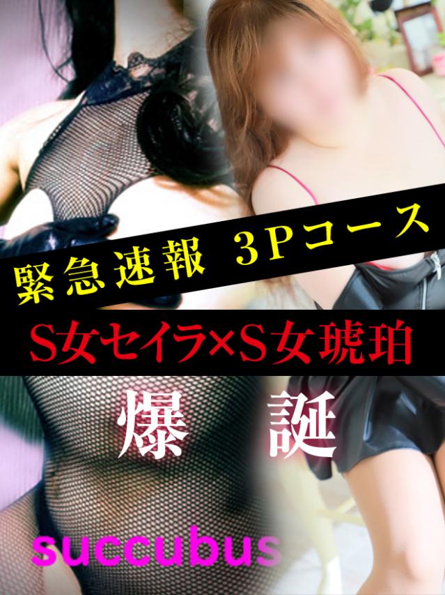 【3Pコース早割引き(事前予約制)】(SM・M性感サキュバス(高知店))